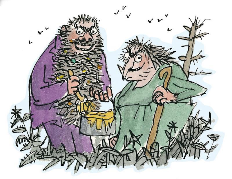 Imagen de la portada de Los Cretinos, de Roald Dahl.